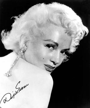 "Dixie Evans in the 1950s as ""The Marilyn Monroe of Burlesque"""