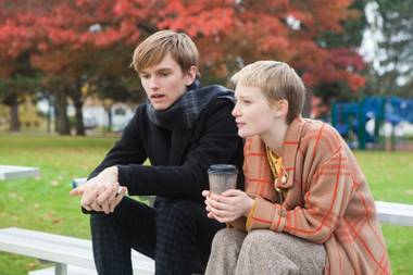 Henry Hopper and Mia Wasikowska wish they were in a better movie in 'Restless'.