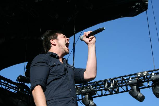 Adelitas Way performs during the first day of the Rockstar 48 Hours Festival at the Luxor Festival Grounds on Saturday, Oct. 15, 2011.