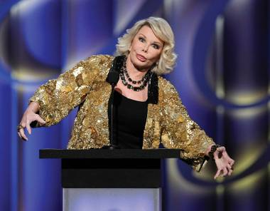 Joan Rivers and her coat of many metals