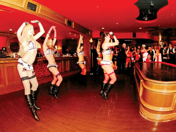 Fittingly, these dancers were upstaged at the Repeal Day bash by one thing: the bar.