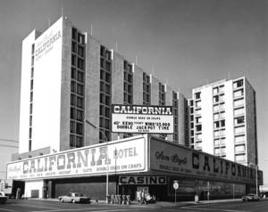 The California Hotel and Casino in 1977, shortly after it opened.