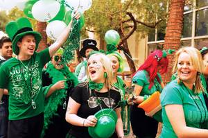 Feeling lucky? Grab a shamrock and head to any of the numerous bashes happening around town.