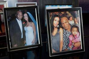 Family photos at Tyson's home, including one with wife Kiki and daughter Exodus, who died in 2009 in an accident at the family's Phoenix home.