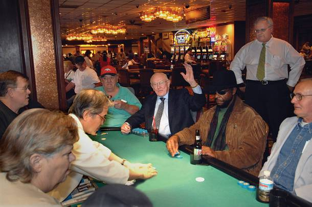 Jackie Gaughan is a man of the people, which is why he still plays cards among them. Mike Nolan, general manager and COO of the El Cortez, says this of the old days, when he and Jackie used to make the rounds on Fremont: