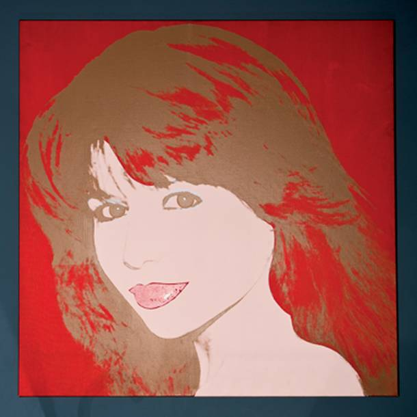 An Andy Warhol artwork of Pia Zadora as seen in her home July, 19, 2012.