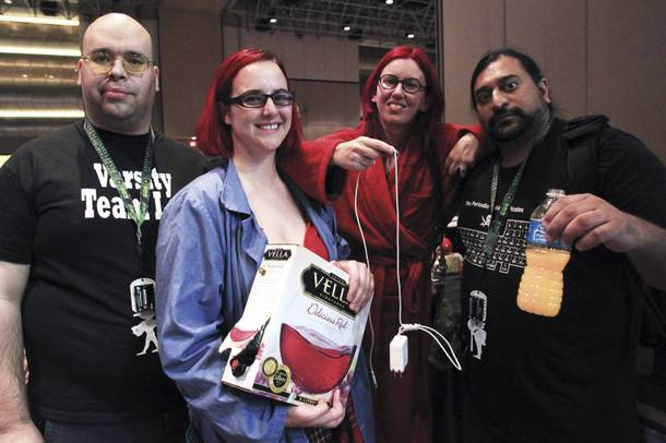 This year's DEFCON scavenger hunt was a huge hit -- even if contestants had to drink that strange orange liquid seen at right.