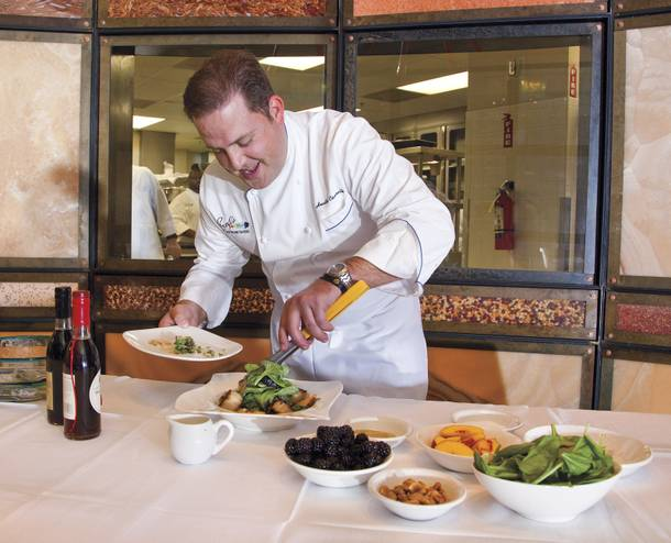 Chef Heath Cicerelli puts delicious pieces together.
