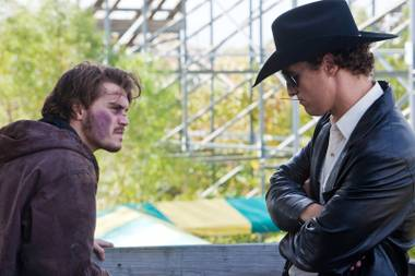 The calm before the fried chicken: Emile Hirsch, left, and Matthew McConaughey in Killer Joe.