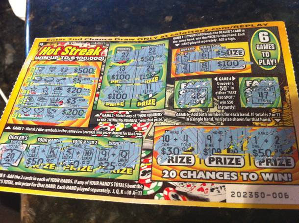 There's endless fun to be found with California's crazy new Instant Win Lotto ticket.