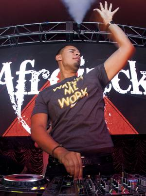 All jacked up: Afrojack rocks the party at Surrender.