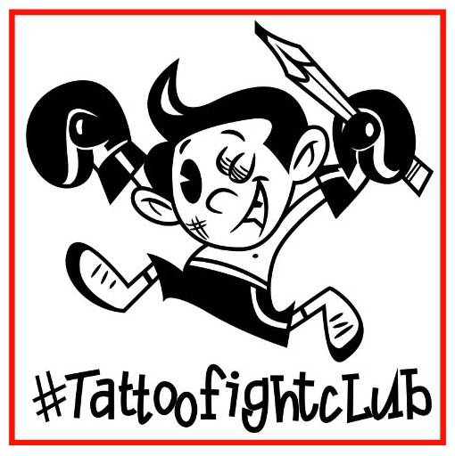 Tattoo Fight Club is official, because look: it has a logo.