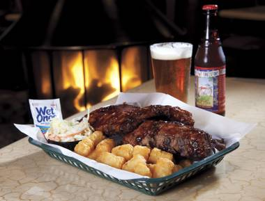What could be better than ribs and tots by the fire?