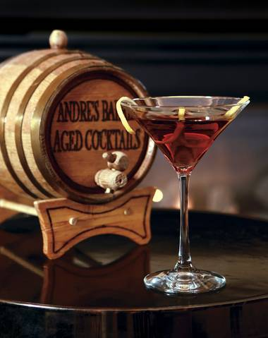 Meet Martinez: Patrick Trundle's barrel-aged cocktail at Andre's