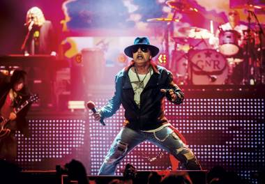 Axl and the gang play eight more shows this month.