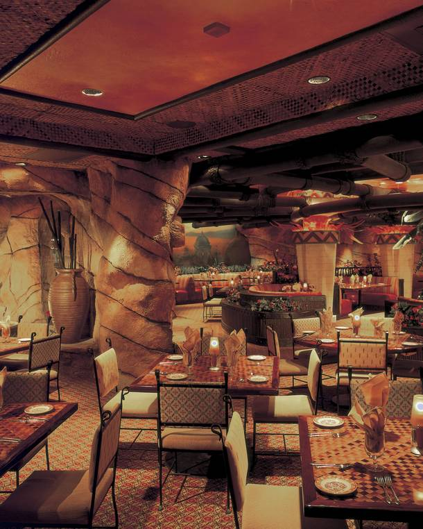 It may be located in the Fiesta Henderson, but the design of Fuego Steakhouse is charmingly Vegas.