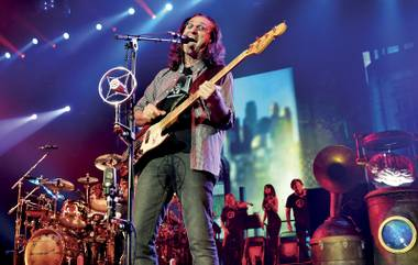 Geddy Lee leads the band and its guest orchestra through new material at MGM Grand.