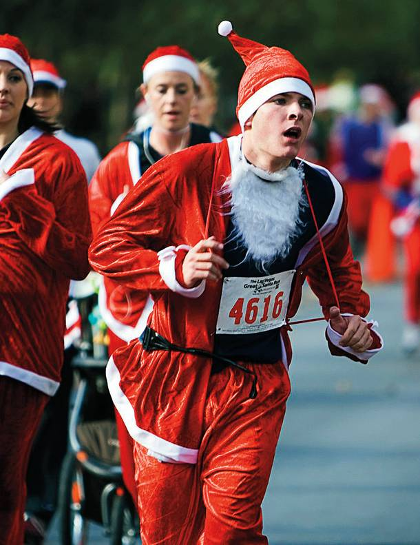 The Great Santa Run benefits local charity Opportunity Village.