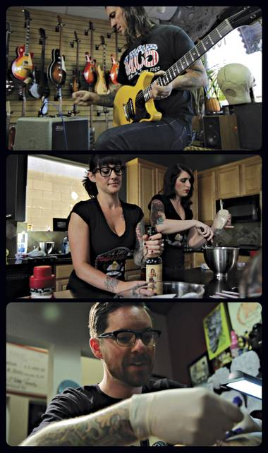 A few scenes from the Sailor Jerry Hold Fast documentary series premiering at Cowtown Guitars in Las Vegas this weekend.