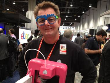3D Systems Senior Researcher Scott Turner didn't buy these glasses. He printed them. You could design and print your own goodies, too, if you buy a Cube for $1,299.