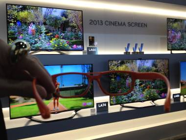 LG's 3D televisions come with hip glasses.