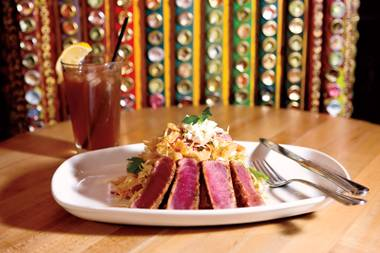 This seared ahi salad is one of Chef Driscoll's favorite menu additions.