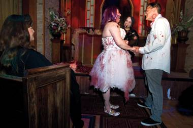 Star-crossed lovers who also happen to be fans of horror films now have the ideal venue for their vows: Eli Roth's Goretorium.