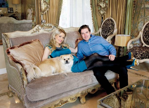 Holly Madison and Pasquale Rotella.