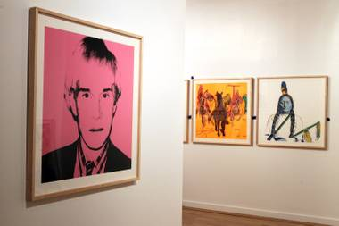 The show includes 59 of the icon's works.