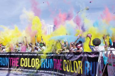The Color Run, a 5k with a twist, made its second annual appearance in Downtown Las Vegas over the weekend.