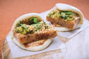 Fat Choy's pork belly bao.