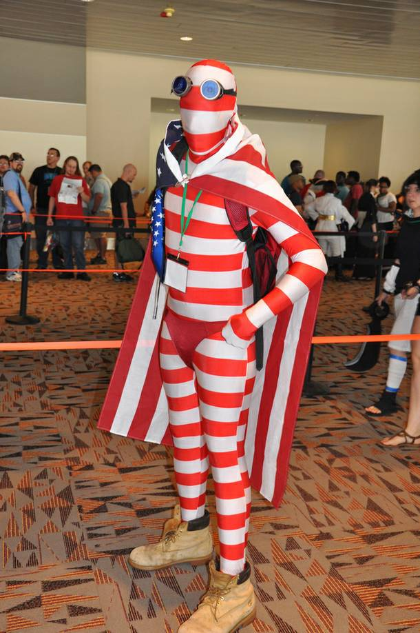 An Otakon attendee shows off a costume at the convention in Baltimore. Otakon comes to Vegas in January 2014.