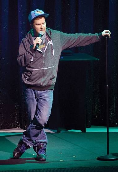Nick at Night: Swardson yuks it up at the Mirage.
