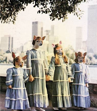 "Curious choir: ""Deer Girls,"" part of They Used to Be Animals."