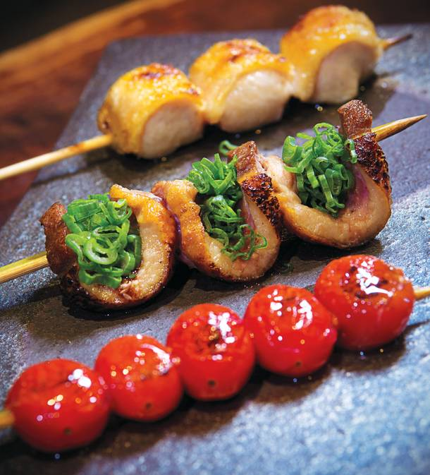 Robatayaki skewers at Raku.