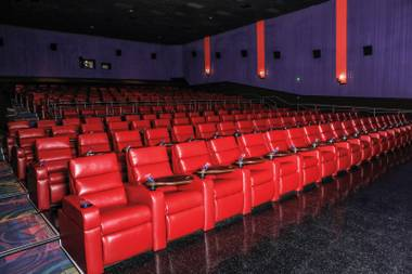 An interior shot of one of Galaxy Luxury+'s theaters.