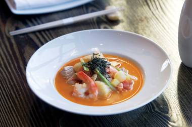 Tomato dashi seafood stew is the perfect dish to transition into spring.