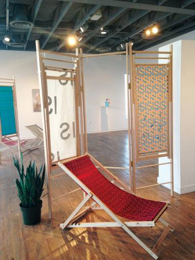 Take a seat: The Nihilist's Spa at Brett Wesley Gallery offers relaxation and meaninglessness.