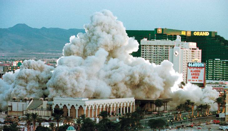 Dust to dust: The Aladdin's 1998 implosion.