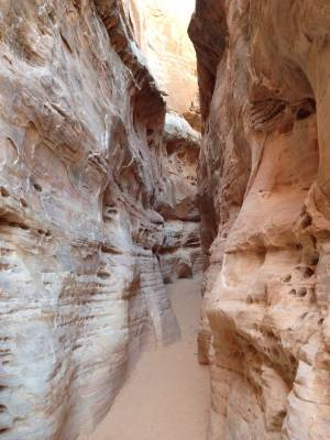 The slot canyon on the White Domes trail. I kept expecting to see Indiana Jones.