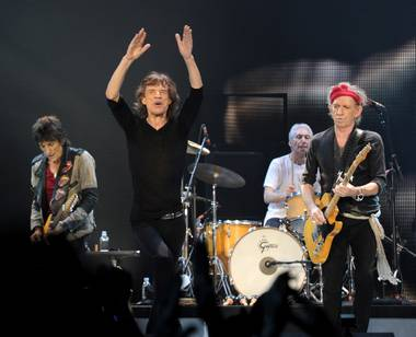 The Rolling Stones—from left, guitarist Ron Wood, singer Mick Jagger, drummer Charlie Watts and guitarist Keith Richards—will play MGM Grand Garden Arena on Saturday, May 11.