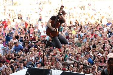 Hats off: Hunter Hayes played the Party for a Cause Festival at the Orleans.