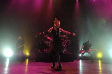 Garbage's production at the Pearl was minimal but powerful.