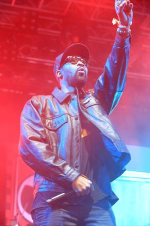 Wu-Tang's RZA rallied a windstorm-swept crowd during Coachella's Sunday sets.