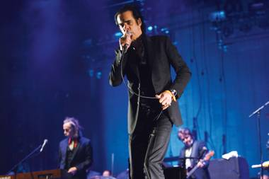 Nick Cave, in Bad Seeds mode Sunday night.