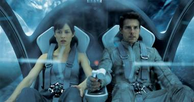 Tom Cruise and Olga Kurylenko find themselves on a strange journey in Oblivion.