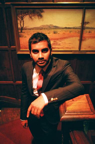 Aziz Ansari stands up at the Mirage this weekend.