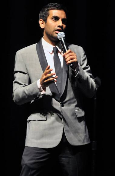 Aziz Ansari, seen here at the Pearl in 2010, killed it during last weekend's Mirage performance.