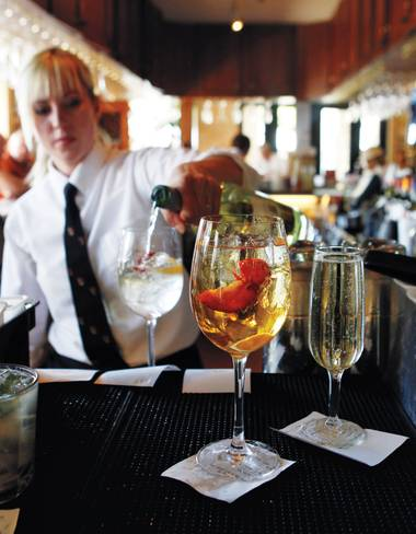 Sparkling sangria at Tivoli Village's Brio can make your happy hour extra happy.