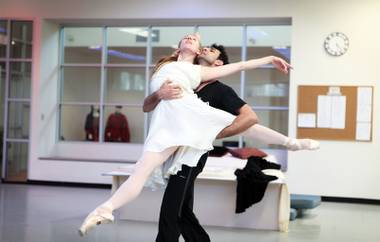 Beautiful tragedy: Mary Lacroix and Grigori Arakelyan rehearse for NBT's Romeo 